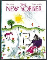 1972 Hippie Artist painting Landscape May 27 New Yorker Magazine COVER ONLY