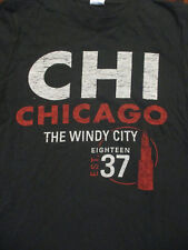 S black CHICAGO t-shirt - THE WINDY CITY - 1837