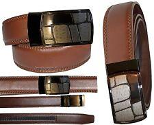 "Men's belt. Genuine Leather Dress/Casual Belt Quick lock Micro adjust up to 43"""