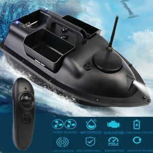 500M RC Wireless Carp Fishing Bait Boat With 3 Hoppers Fish Hook Post Speedboat