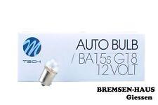 10x Birne/Lampe Kugel 12V 5W / R5W / BA15s