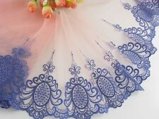 "7.5 ""*1yard delicate  embroidered flower  tulle lace trim DIY 0453"