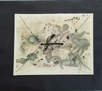 "Antoni Tapies ""The Envelope ""  Mounted Color offset Lithograph  1973"
