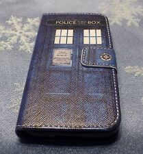 DOCTOR WHO TARDIS LEATHER WALLET CARD FLIP POUCH CASE FOR SAMSUNG GALAXY S5 MINI