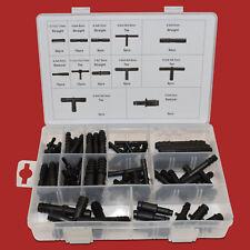 113 tlg. Schlauchverbinder Sortiment schwarz T Stück Verbinder Reduzierstück Set