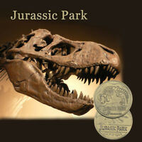 Jurassic Park Dinosau Bronze Plated Coin For Children Gifts Challenge Coins