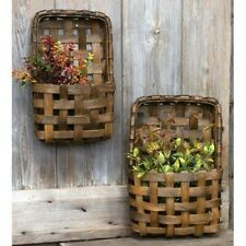 New 2/Set Brown Tobacco Wall Pocket Flower Baskets