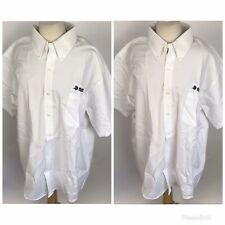CINTAS UNIFORM Men's Employee White Dress Shirt Size 18 Miller Transportation