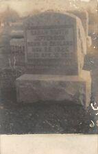 F31/ Fredonia New York RPPC Postcard Chauatuaqua Cemetery Smith Grave