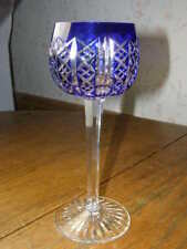 RIESLING Pattern Goblet by ST. LOUIS Cristal France - Blue Cut to Crystal