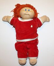 """Cabbage Patch Kid Girl Doll Red Hair Ponytails Blue Eyes Coleco Vintage 1984 17"""""""