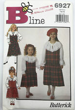 Butterick B Line Sewing Pattern 6927 Girls Jumper Blouse Size 7 to 10 UNcut 1993