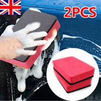2x Useful Car Clay Bar Pad Sponge Block Cleaning Eraser Wax Polish Pad Tools UK