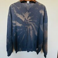 Vintage Russell Athletic Tie Dye Sweatshirt Pullover Men's Size XL Modified