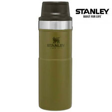 More details for stanley classic trigger action travel mug 16 oz 0.47l military olive drab green