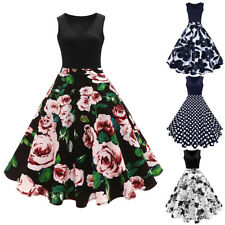ROCKABILLY Vintage Women 60s 50s Pinup Housewife Retro Swing Evening Party Dress