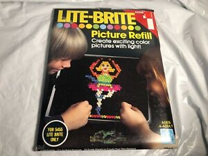 Vintage sealed 70s lite brite refill sheets Assortment 1 HALLOWEEN WITCH + MORE
