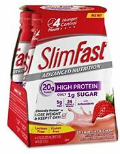 Slim Fast Advanced Nutrition High Protein Ready 2 Drink Shake Strawberries and