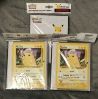 3x Pokemon 25th Anniversary First Partner TCG Collector's Binder + Pikachu Card