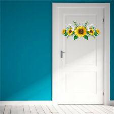Sunflower Wall Sticker Refrigerator Door Home Decor 60*30cm Flower Wall Sticker