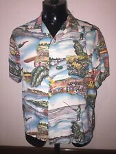 Hawaiian shirt original 1940's L- XL