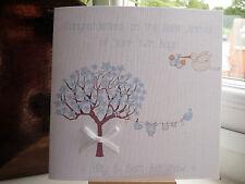 Handmade Personalised New Baby Birth Twins Congratulations Card Boys Girls