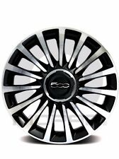 "14-16 Fiat 500L New 17"" Black Diamond Aluminum Wheel Set of 4 Mopar Factory Oem"