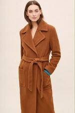 Anthropologie Brown Jude Belted Wrap Coat Size 10