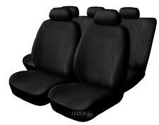 Fiat 500 L Velours Universal Sitzbezug Sitzbezüge schwarz
