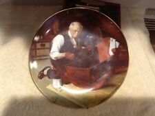 Norman Rockwell - Grandpa's Gift - Collector Plate #3599G Bradex Knowles - Mint