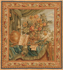 Hand Woven Tapestry Needlepoint French Floral Scene Size 5.6 x 5.1 Still Life