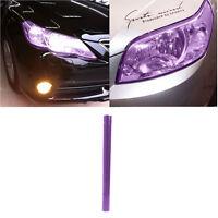 30x100cm Purple Car Headlight Tail Fog Light Tint Film Overlay Adhesive Sheet