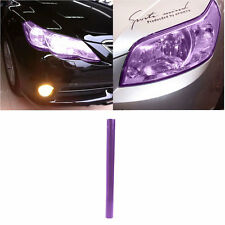 Purple Car Headlight Tail Fog Light Tint Film Overlay Adhesive Sheet 30x100cm
