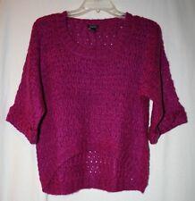 Rue 21 Juniors Size XL Half Sleeve Dark Pink Purple Knit Sweater