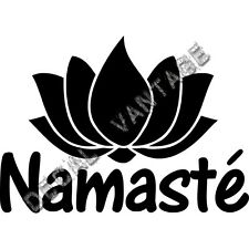 Lotus Namaste Vinyl Sticker Decal Aum Om Yoga - Choose Size & Color
