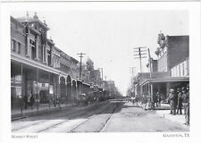 "*Postcard-""Market Street"" /known for Banks*Theatres/ Galveston, TX (A9-2)"
