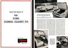 Ford Consul Classic 315 1961 - Road Test Report of The Ford Consul Classic 315