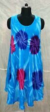5 Piece Lot Gorgeous Mid-Calf Tie Dye Viscose Rayon Dress Tunic Beach Wear +size