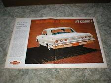 1963 Chevrolet impala Sport Coupe Car Ad Centerfold