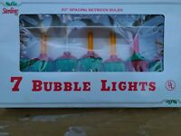 7 Vintage Sterling Bubble Lights Christmas Tree Ornaments See Description
