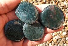 1 x Polished Green Moss Agate Crystal Palmstone - 50mm. Ref:X.MA2 Crystals