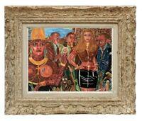 DECOUVERTE D'UNE ANCIENNE PEINTURE ART BRUT / SINGULIERE / OUTSIDER 1986  (11)