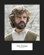 GAME OF THRONES - TYRION LANNISTER (Peter Dinklage) #2 Signed 10x8 Mounted Photo