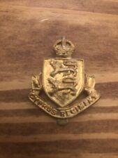 British Cyprus Regiment Insignia Cap Badge Brass