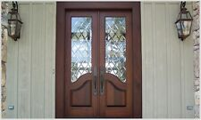 ItoDoors Door Manufacturer-Double Front Entry Exterior Wood Door- Custom Built