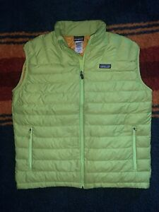 Patagonia Down Sweater Vest Size Large L men's Lime 2013