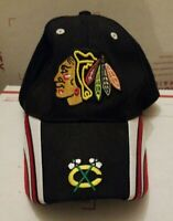 Chicago Blackhawks Embroidered Logo NHL Hockey Adjustable Hat Cap