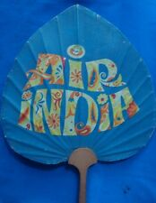 Old vintage Air India Air Lines Co. Paper Hand Fan From India 196