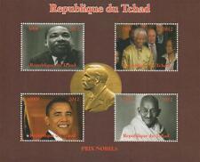 NOBEL PRIZE MARTIN LUTHER KING NELSON MANDELA OBAMA GANDHI MNH STAMP SHEETLET