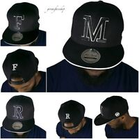 INITIAL LETTERS SNAPBACK CAPS, BASEBALL MENS, LADIES CAPITALS PREMIUM HATS BLING